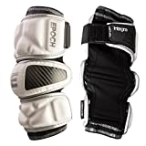 Epoch Integra Lacrosse Arm Pads for Attackmen and Middie with Dual Density Foam, Medium, White