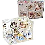 DIY Haus Kitten Tagebuch Puppenstuben Hand montiert DIY Spielzeug Katzen Kinder-Licht-Abdeckung Miniatur-Modell Geschenk-Dekor One Size Dollhouse-Mini (Farbe: Mehrfarbig, Größe: Eine Größe) 8bayfa