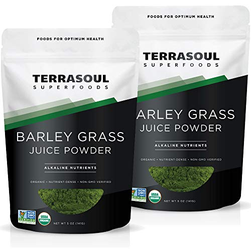 Terrasoul Superfoods Organic Barley Grass Juice Powder, 10 Oz - USA Grown | Made From Concentrated Juice | Superior to Barley Grass