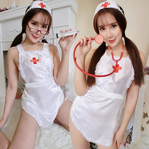Ccool-M Weibliche sexy Versuchungkrankenschwesterkostümrollenspiel weiße einheitliche sexy Wäsche