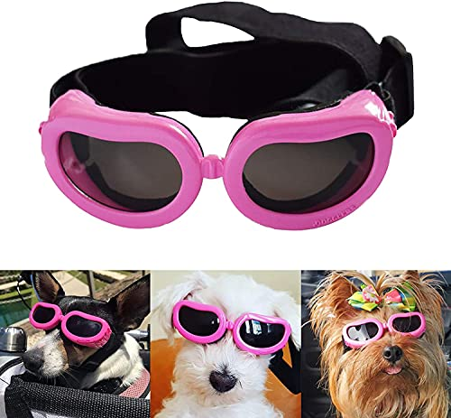 Dog Goggles Stylish Waterproof Anti-Ultraviolet Sunglasses for Doggie Puppy-Pink