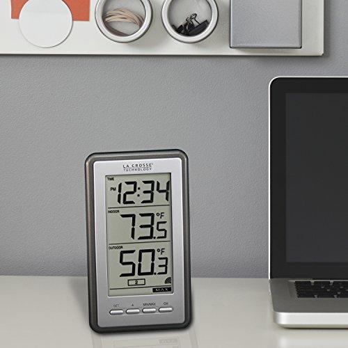 Product Image 6: La Crosse Technology Indoor/Outdoor Temperature WS-9160U-IT Digital Thermometer, Titianium