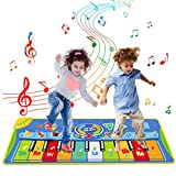 Tyhbelle Record-Playback Piano Musical Mat,Kids Touch Play Game Dance Music Blanket Carpet Mat,10 Piano Touch, 8 Musical Instruments, 5 Mode Dance for Boys Girls Baby Blanket Early Education Toys