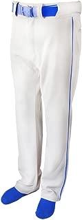 New Martin Baseball Softball White Belt Loop Pants Royal Blue Piping Youth XS-XL