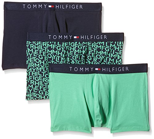 Tommy Hilfiger Icon Trunk 3 Pack Logo Mix Boxer, Multicolore (Jade Cream/Navy Blazer Pt/Jade Cream), X-Large (Taille Fabricant: XL) (Lot de 3) Homme^H