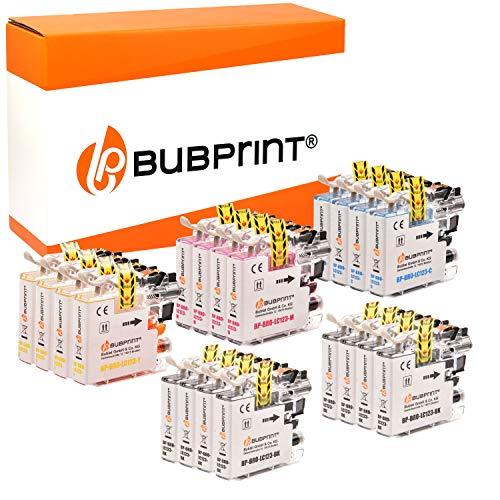 20 cartuchos de tinta Bubprint compatibles con Brother LC-123 para DCP-J132W DCP-J152W DCP-J4110DW DCP-J552DW DCP-J752DW MFC-J245 MFC-J4410DW MFC-J4510DW MFC-J470DW MFC-J6520DW MFC-J6720DW MFC-J870DW