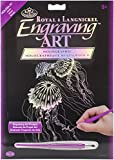 ROYAL BRUSH HOLOFL-24 Holographic Foil Engraving Art Kit, 8-Inch by 10-Inch, Jellyfish