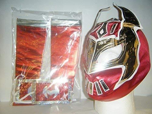 Rote Sin-Cara-Maske für Kinder mit Arm-Ärmeln.