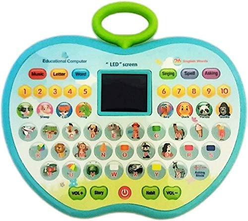 SUPER TOY Educational Computer ABC 123 Learning Kids Laptop with LED Display and Music (with Battery)