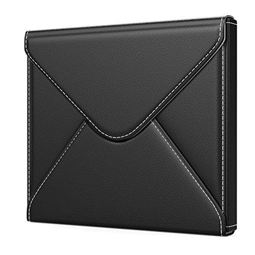 """MoKo Étui Housse Compatible avec Kindle Oasis 7"""", Pochette de Protection Enveloppe Premium en Cuir PU pour 7'' Kindle Oasis E-Lecteur 2017 libéré - Noir"""