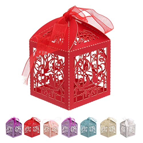 Gift Bags & Wrapping Supplies - 25 Candy Box Marriage Bird Hollow Cardboard Upscale European - Pack Gift Craft Hard Candy Gift Vr Box Drive Reality Gift Cardboard Wedding Love Cardboard Hdd Ra