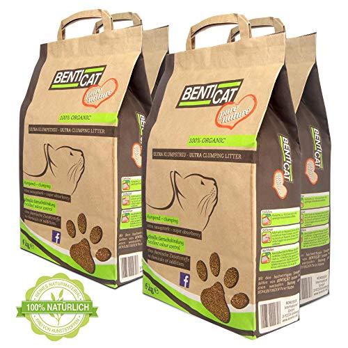 Benticat Pure Nature Katzenstreu – natürliches Klumpstreu für Katzen