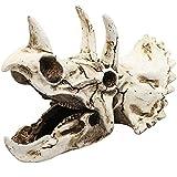 LAVECAR Estatua de resina de triceratops de dinosaurio, escultura de dinosaurio, decoración de acuario de peces, adornos decorativos para tanque de tortuga, terrario, accesorios para tanque de peces