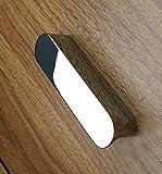 (4 Pieces) Viborg Zinc Alloy Modern Kitchen Hardware Cabinet Cupboard Door Handle Pull Wardrobe Dresser Vanity Drawer Handles Pulls SA-779 Chrome (Hole-to-Hole: 96mm)