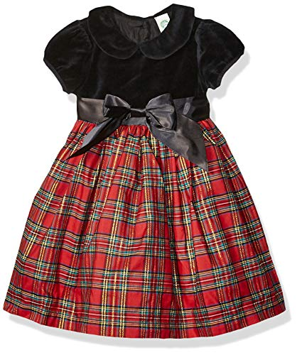 Little Me Girls' Toddler Special Occasion Dress, Plaid, 2T