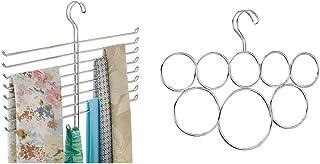 iDesign Rangement Suspendu à 8 tiges et 1 Crochet, Rangement Foulard en métal, argenté & iDesign Rangement Suspendu à Anne...