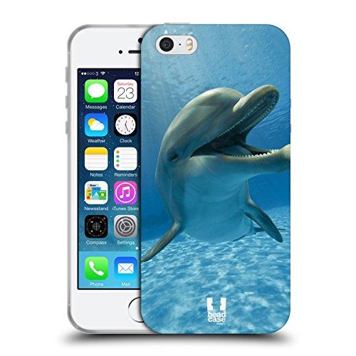 Head Case Designs Delfino Animali Selvatici Cover in Morbido Gel Compatibile con Apple iPhone 5 / iPhone 5s / iPhone SE 2016