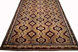 17X34 Antique Circa 1880 Agra Hand-Knotted Area Rug Oriental Carpet (16.7 x 33.7)