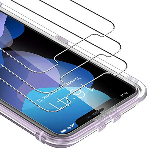 "UNBREAKcable Protector de Pantalla para iPhone 11/ XR [3-Pack] Cristal Templado para iPhone XR / 11 [Marco de Instalación Gratuito] Funda Amigable,Dureza 9H, 2.5d Borde Redondo (iPhone 6,1"")"