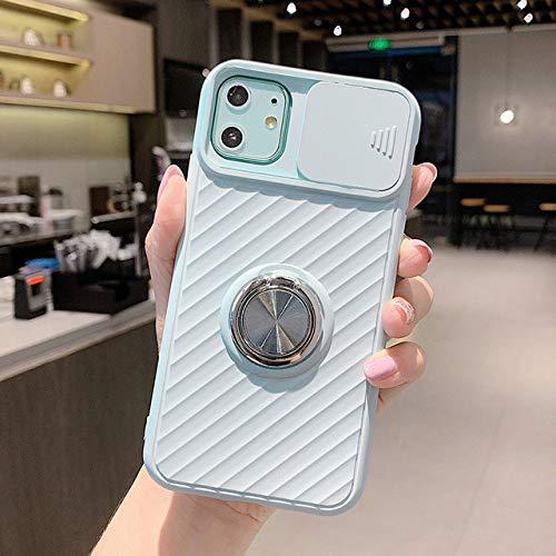 FYMIJJ Funda Protectora Deslizante para cámara para iPhone 12 SE 2020 11 11Pro MAX XR XS MAX X 8 7 6 6S Plus 11Pro Funda Blanda con Soporte para Anillo a Prueba de Golpes, T4, para 7 Plus u 8 Plus