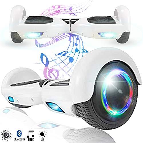 Magic Vida Skateboard Électrique 6.5 Pouces Bluetooth Puissance 700W avec Pneu à LED Gyropode...