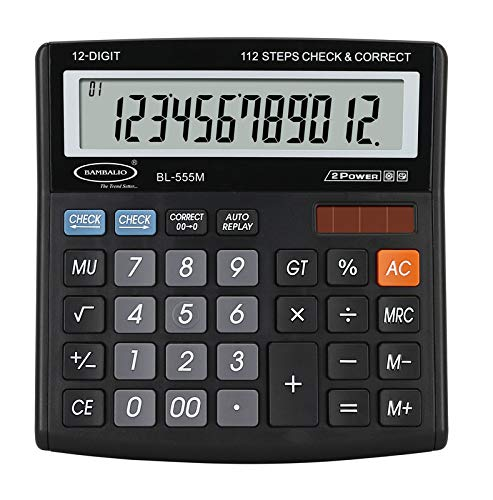 Bambalio 12 Digits BL-555M Large Display Electronic Calculator 3 Years Warranty.