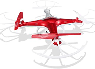 JJRC H97 WiFi FPV Drone with 2MP HD Camera, LED Selfi RC brushless Quadcopter (Red)
