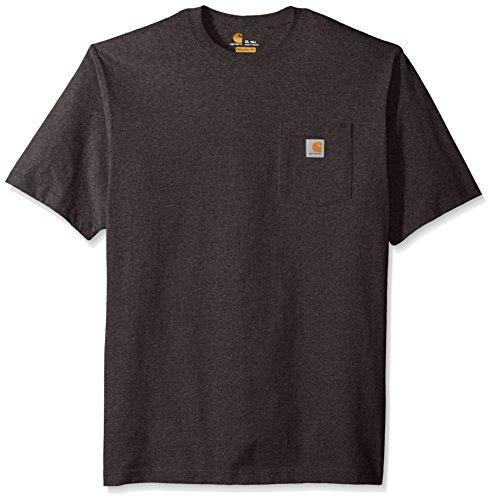 Carhartt Workwear Pocket Short Sleeve T-Shirt Magliette da Lavoro, Carbone, XXL Alto Uomo