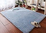 HETOOSHI Alfombra Salon Grandes Shaggy - Alfombras Dormitorio Modernas Pelo Largo Lavables - para Comedor, Dormitorio, Pasillo y Habitación Juvenil (Azul grisáceo, 120 x 160 cm)