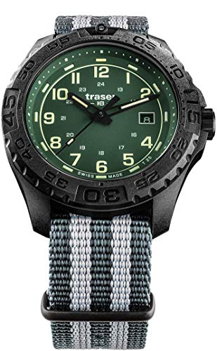 Traser H3 P96 Outdoor Pioneer Evolution Green Tactical Watch Militär Armbanduhr NATO Armband