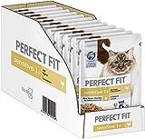 [page_title]-Perfect Fit Sensitive 1+ – Nassfutter für erwachsene, sensible Katzen ab 1 Jahr – Huhn in Sauce – Ohne Weizen & Soja – Unterstützt die Verdauung – 12 x 85 g