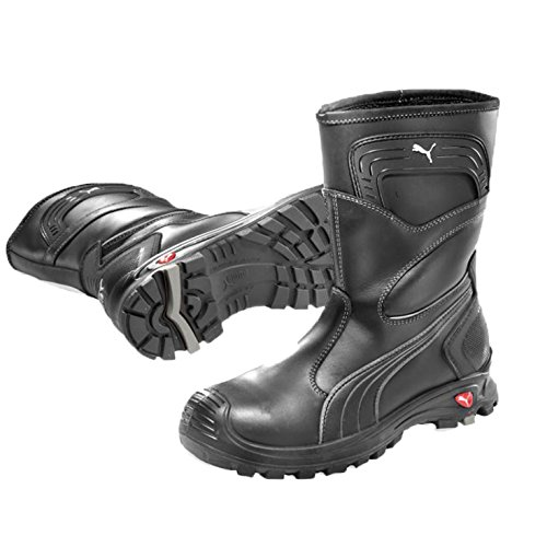 Puma Safety Sicherheitsstiefel Scuff Caps Rigger Boot S3 63.044.0, wasserdichter Arbeitsstiefel, schwarz, Größe  47, 47-630440-47