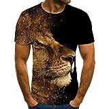Los hombres de la moda camisas letra 3D impresión hombres...