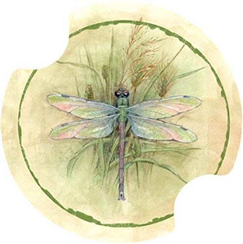 Thirstystone Dragonfly Car Cup Holder Coaster, 2-Pack