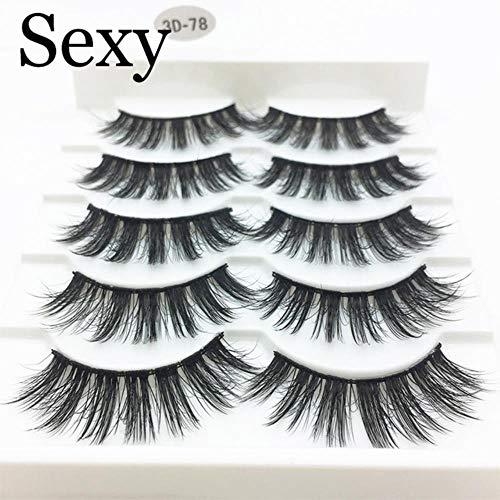 KADIS 5 Pairs Faux 3D Lashes Fluffy Wispy False Eyelashes Natural Long Eyelash Extension Makeup Handmade Fake Lash,3D-78,Lashes