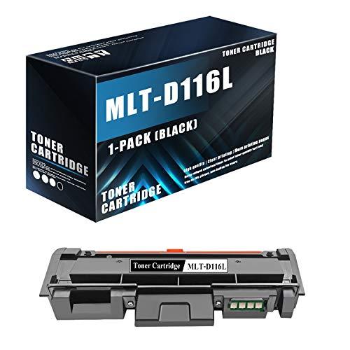 (1-Pack Set,Black) Compatible D116L MLT-D116L Toner Cartridge Replacement for Samsung Xpress M2825WN M2835 M2676FH M2875FW M2625 M2875FD M2875FD M2876HN M262x Printers,Sold by MonInk