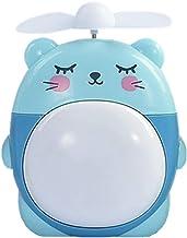 HUI JIN Mini ventilateur de bureau USB pour enfant Motif chat Bleu