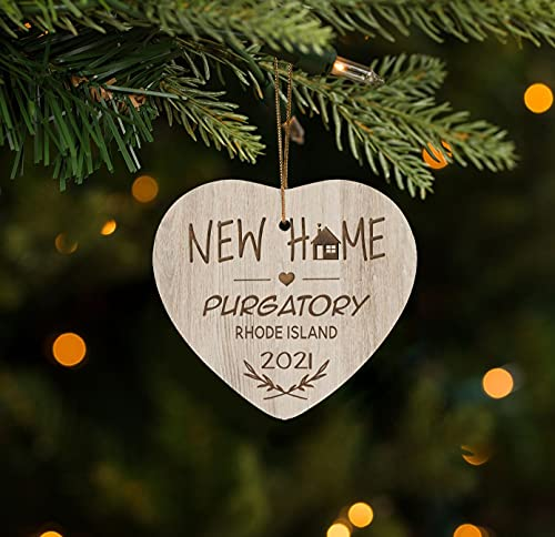 Our First Christmas in our New Home Ornament 2021 Purgatory Rhode Island Ornament for Christmas Tree Decoration 3 inches