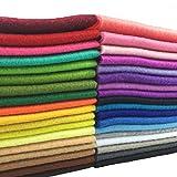 flic-flac 36pcs 1.4mm Soft Felt Fabric Sheet Assorted Color