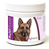 Healthy Breeds Dog Daily Vitamins Soft Chews For German Shepherd, Side View- Over 200 Breeds - For Small Medium & Large Breeds - Easier Than Liquid Or Powders - 60 Chews