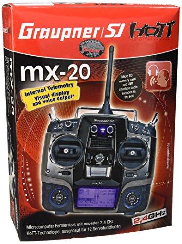 Graupner 33124.16 Fernsteuerung mx-20 HoTT 12-Kanal DE