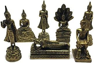 7 Days Buddha Statues Birthday Figurines Week Images Posture Miniature Thai Amulet Home Decor Monday Tuesday Wednesday Thursday Friday Saturday Sunday Lucky Charm Shrine Altar Spirit House Auspicious