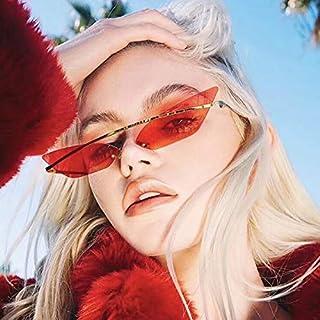 女性サングラスヴィンテージファッション2パック現代の不規則なサングラスゴーグルメガネ