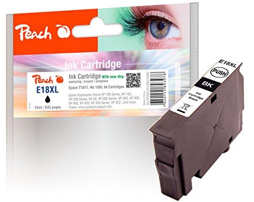 Peach Tintenpatrone schwarz kompatibel zu Epson No. 18XL bk, T1811