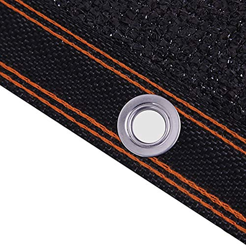 YXX-Filet d'ombrage Tissu d'ombre de rayons UV noir à 95% avec oeillets métalliques - Écran de confidentialité pour clôture de jardin extérieur extérieur (Size : 8mx12m)