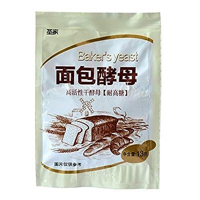 DENGHENG 13g Bread Yeast Highly Active Dry Yeast High Glucose Tolerance Kitchen Baking Supplies