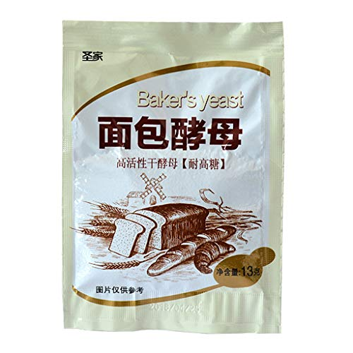 FangWWW 13 g de levadura de pan de gran actividad levadura seca de alta tolerancia a la glucosa hornada de la cocina Suministros
