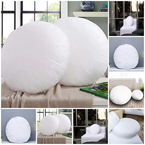Iyan Linens Ltd Hollowfibre Filled Cushion Pad Insert/Filler (Round 14') Pack of 2