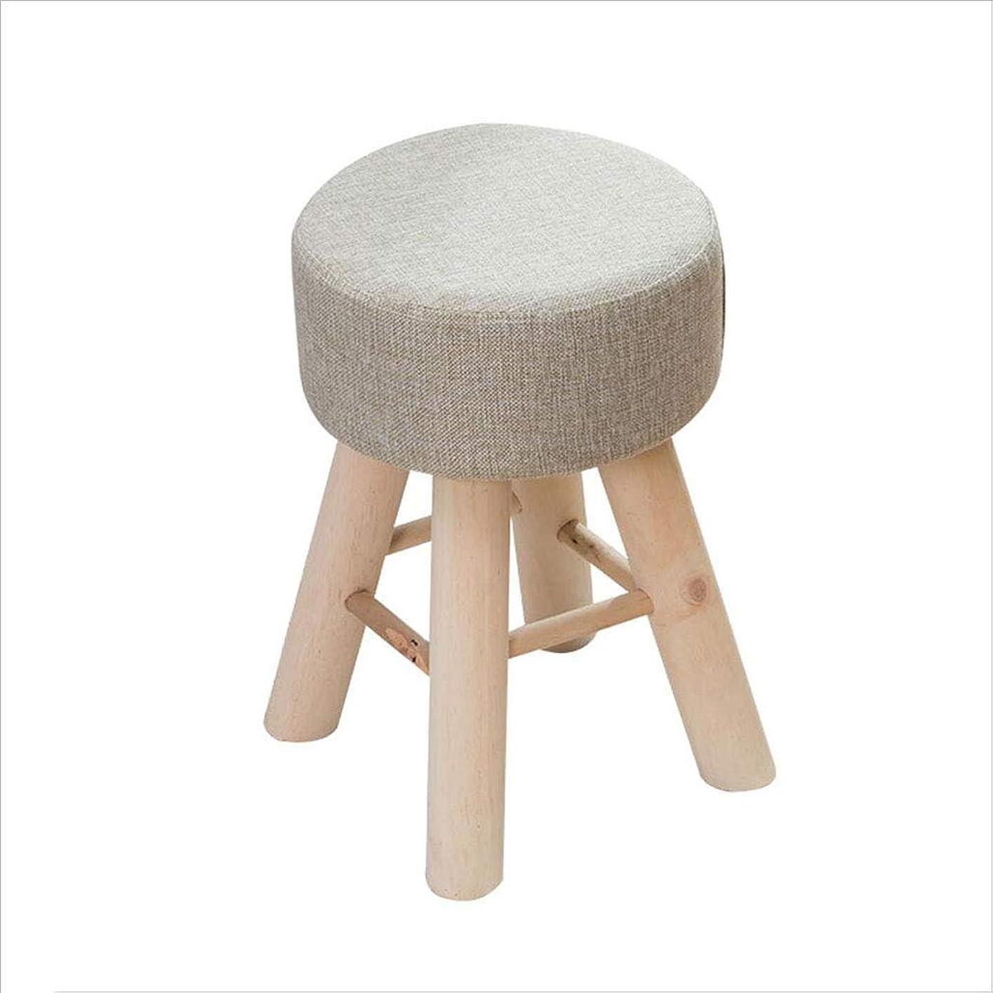 準備それによって用心スツール純木のスツールホームスモールベンチスツールスモールクリエイティブな小さな椅子スツールファブリックメイクスツールドレッシングスツール、43×28cm
