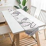 Free Brand Camino de mesa de 177,8 x 33 cm, nubes blancas, organización de ilustración de lluvia, decoración de mesa para boda, diseño de mantel, decoraciones al aire libre picnics mesa de comedor